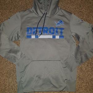 NFL Nike Detroit Lions Hoodie Grey Dri-Fit S Logo